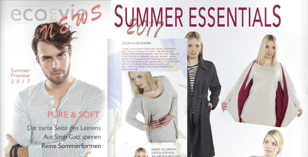 Soome Leinenstrick Modelle imMagazin ECOenVIE 2016