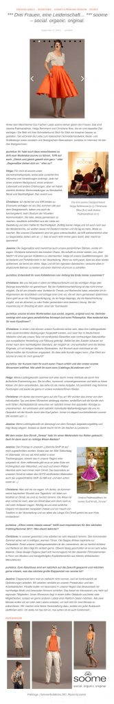 Interview vonAnna auf dem Blog von puristica