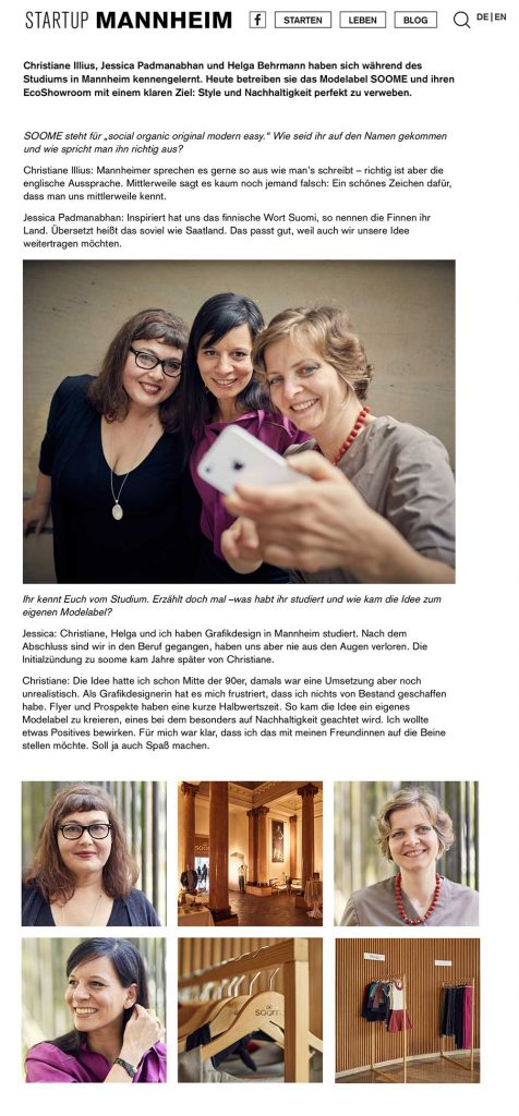 soome Interview auf Startup Mannheim